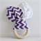 Wooden Baby Teether Purple Chevron