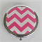 Hot Pink Chevron/Zig Zag Compact Mirror
