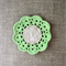 Crochet mug/teapot doily coaster in lime green, mother's day gift