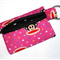 Key Ring Coin Purse in Lovely Pink Monkey Fabric