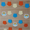 Happy Blue Owls Paper Garland