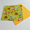 Wash Cloths Set of 2 Woodland Animals Yellow Polka Dots