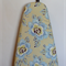 Ironing Board Cover - pale blue and butter cream Wild Poppy - Amy Butler