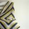Crochet Baby Blanket Yellow, Dark Gray and White Made to Order