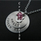 Big Sister Little Sister Personalized Hand-Stamped Stainless steel necklace