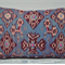 Maya blue Ikat 13 x 20 cushion cover