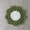 Crochet mug/teapot doily coaster in dark olive green, mother's day gift