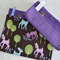 Purple dot & deer set of two absorbent Burp Cloths