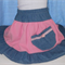 "little girls skirt "" Pink and denim """