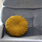 SPECIAL ORDER FOR SI - Vintage Style Mustard Velvet round cushion