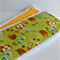 Extra Large Burp Cloths Set of 2 Woodland Animals and Yellow Polka Dots