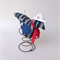 LITTLE BLUE BIRD in Rusty Spring, Nautical, Sailor, Navy Blue and White Stripe