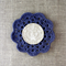 Crochet mug/teapot doily coaster in navy blue, mother's day gift