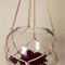 """Alpine"" macrame plant pot holder in natural."