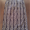 Cotton Wrap Skirt in Black and Beige with Navy and Aqua Floral Ties