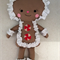 Gingerbread Man Softie