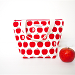 Insulated, Waterproof, Tote-Style Lunch Bag - Red Apple
