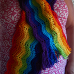 Chevron Rainbow Scarf (Adult)