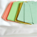 ☆ 20 Gelati Pastel Manila Blank Gift Tags Unthreaded for DIY Labels