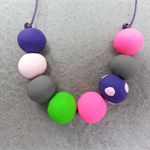 Colourful polymer clay necklace