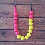 Fluro polymer clay necklace
