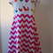Chevron / Roosters Dress