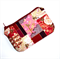 Coin purse in Gorgeous Floral Fabric with Golden Cranes