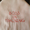 "Bandanna/Bib for Girls 3mths to toddler - ""Boss in Training"""