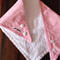 Bandanna/Bib for Girls 3mths to toddler - Pink & White Stripes