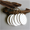 Chevron Egg - Clay Tags (6) - Easter Gift Tag Ornament Home Decor