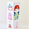 Girls Mix n Match Wood Puzzle Blocks