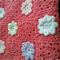 Super soft pink crochet baby blanket with flowers
