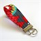 Wrist Key Fob - Triangle Desert On Grey & Red Dots