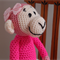 Milly - Hand crocheted monkey by CuddleCorner : OOAK, Washable,
