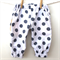 Play Pants - Summer - Boy/Girl Winter - White with grey polkadots linen/cotton