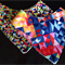 Geometric and spot bandana bib combo