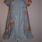 Rose Garden Ruffled Dress - Blue