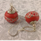 Geometry in Red - Polymer Clay Earrings
