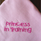 "Bandanna/Bib for Girls 3mths to toddler - ""Princess in Training"""