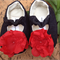 Petal power denim soft sole pre-walker baby shoes