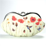 Eyeglasses case clutch purse - Poppy field - /sunglasses case/spring