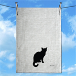 Little Cat Linen Tea Towel