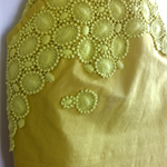 Elie Saab inspired Yellow Mustard citrus lace needlepoint pencil skirt