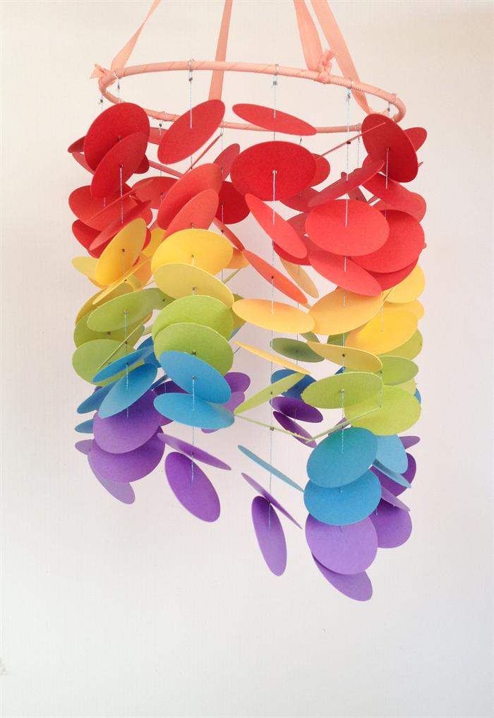 Custom baby mobile rainbow dot design kbs designs - Designer babymobel ...