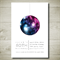 SHINY DISCO BALL printable custom invitation
