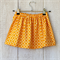 Size 2 - Girls Skirt - Orange Circles