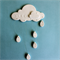 Dream Cloud - White Clay Wall Decor, Nursery, Child's Room, Decoration.