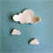 Fly Cloud Fly - White Clay Wall Decor, Nursery, Child's Room, Decoration.