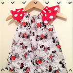 Minnie Mouse Peasant Top Custom Size 1, 2 or 3