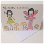 5x Happy Birthday Fairy Gift Cards